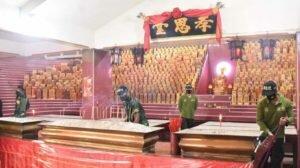 Taruna Latsitardanus 2021 Giat Bersih Rumah Ibadah Vihara Maha Dana Kota Tebing Tinggi