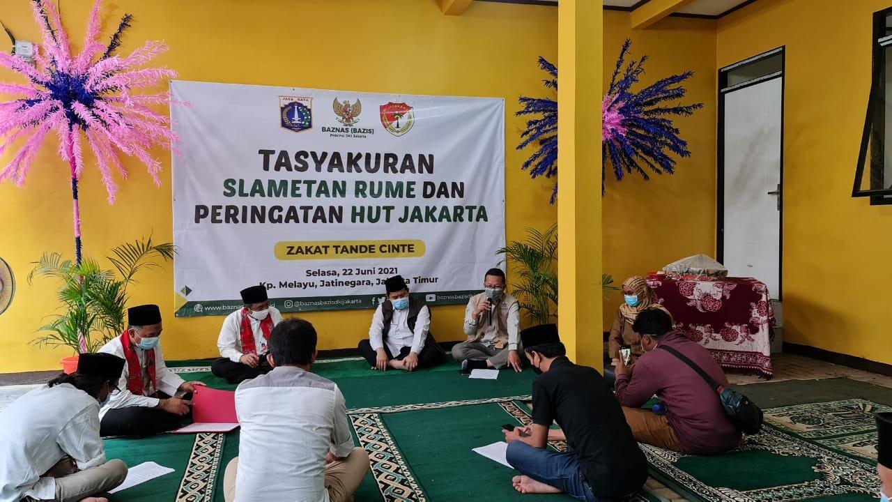 Baznas Bazis DKI Jakarta Gelar Tasyakuran Bedah Kawasan Kampung Melayu