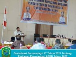 Permendagri Sosialisasi Pedoman Penyusunan Anggaran 2022 di Kabupaten Padang Lawas Utara